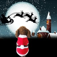 arrival pet outwear - New Arrival Pet Puppy Dog Christmas Clothes Santa Claus Costume Outwear Coat Apparel Hoodie MTY3