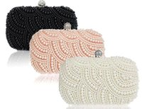 beads clutch - Sparkly Shining Lastest Crystal Peals Bridal Hand Bags with Chain Women Wedding Evening Prom Party Bags Bridesmaid Bags MYF81