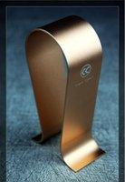 aluminum u brackets - Hot Copper Colour Single Aluminum U type Headphone Stand Display Hanger Bracket Holder Shelf For Brand Headset