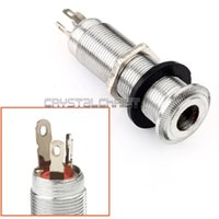 Wholesale NEW quot Chrome Cylinder Output JACK Mount Flush for Guitar and Basses