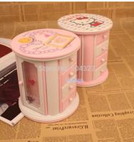 Wholesale Pieces Home Decor Hello Kitty Music Box cum Jewelry Box Cosmetic Box