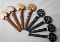 Wholesale cello Fittings different inlay Jujube ebony pegs