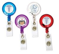 medical id - Retailing Nurse Doctor Medical Healthcare Hospital Caduceus MD Retractable Reel ID Badge Holder
