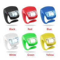 Wholesale Silicone Bike Bicycle Cycling Head Front Rear Wheel LED Flash Bicycle Light Lamp black red include the battery