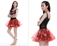 Cheap 2015 New Dancing Skirts Printed Butterfly Belted Tops + TUTU Skirts with Safety Bottom Fashion Dancing Skirts Homecoming Skirts Chacha Skirt