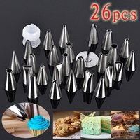 Wholesale 26pcs Top Selling Icing Piping Nozzles Pastry Tips Cake Cupcake Decorating Tools Box Set