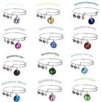 bracelets wholesale cheap bangles - Cheap New Birthstone Crystal Pendant of Months Birthstone Alex and Ani Charm Wiring Bracelet expandable bangles