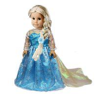 18 doll - Doll Clothes Fits quot American Girl Doll quot FROZEN quot Princess Elsa Dress Girl Birthday Present Xmas Gift Doll clothes fits frozen doll