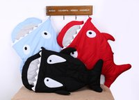 baby swaddle - Factory Sale Colours Shark Baby Sleeping Bag Newborn Infant Children Blanket Swaddle Baby Sleep Sack