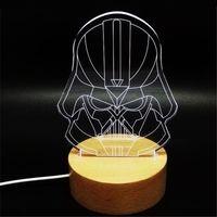 based wood panel - Darth Vader Star Wars D Visual LED Night Lights Cartoon Images Wood Base and Acrylic Lighting Panel USB Power Supply