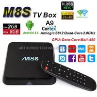 Wholesale M8S Amlogic S812 Quad Core K Smart TV Box kodi Android G G G G WIFI M8 HDD Media Player H HEVC Bluetooth Mini PC