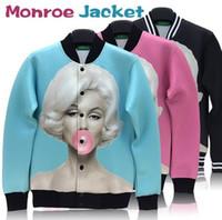 Wholesale High quality Marilyn monroe print outdoor jacket sportswear women men windbreak coat classic marylin pattern autumn outwear