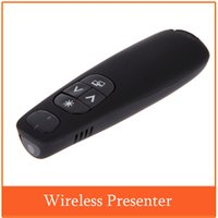 Wholesale Romote Control PPT Presenter Pointer Wireless Presenter Red Laser Pen Pointer Receiver Ghz RF for Teachers Engineers