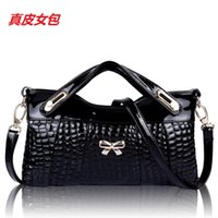 Wholesale Handbags Women s winter genuine leather one shoulder women s handbag day clutch for Crocodile cowhide clutch bag coin purse small bags Q5