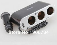 Wholesale Powerful USB Way Three In One Car Cigarette Lighter DC V V order lt no track