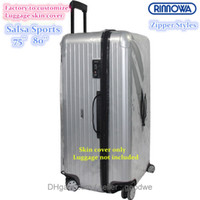 best travel luggage - 2016 New Zippers Clear Protective Skin Cover Protector for RIMOWA Salsa Sports Luggage Best Fits Sports fans like anti scratch Travel