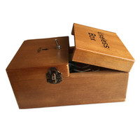 Wholesale New Leave Me Alone Box Black wood Useless Box Kit Assembled Great Cool Xmas Gift