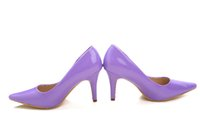 Cheap Purple Charming Brand New 10cm High Heels Bride Bridesmaid Wedding Shoes Party Dinner Prom Shoes Size : (34 35 36 37 38 39) 33049