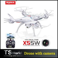 Wholesale Drone SYMA X5SW rc quadcopter FPV wifi support IOS Android syma x5sw drone with HD camera G Axis real time RC heliconpter toy
