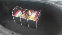 cd storage box - 1pc Black Car Boot Organizer Collapsible Bag Storage Auto Trunk Storage Box tool Folding Car Styling Car Interior Accessories M4307