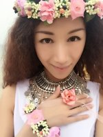 bali bracelets - Bali holiday photos necessary prop simulation flower artificial flower wedding Bridal wreaths garland beautiful flower bracelets