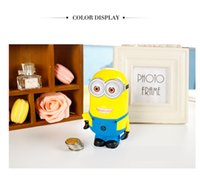 Unisex banks place - Little Yellow Man Piggy Bank Toys Coins Creative Toys God Steal Dads Despicable Me Cartoon ABS Lovely Cute Heat In Place Adorn