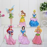 ariel snow white - set sets PVC Princess Ariel Cinderella Snow white Figure Toy Girl Gift