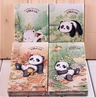 Wholesale Panda and bear paper notebook folded printed notebook cute and cool pocketbook high quality gift for students notebooks diaries mix up