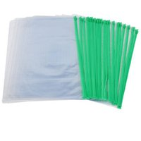 Wholesale IMC Office Green Clear Size A4 Paper Slider Zip Folders PVC Files Bags order lt no track