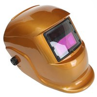 Wholesale Flexible Golden Solar Automatic Darkening Welding Helmet Welder Mask MAC_10L