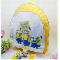 baby boy schoolbag - 3 colors Newest Baby Girls Boys Cartoon Despicable Me Schoolbag Children The Travelling Backpack Shoulder Bag Minions By Gru LJJC1262