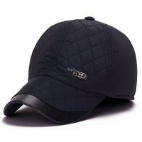 baseball cap ear flaps - New Winter Baseball Cap Mens Winter Hats Ear Flaps Famous Brand ZHENYUEQI Strong Heat Windbreak For Adult Size cm