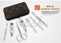 Wholesale Top Grade Nail Clipper Kit Nail Care Set Pedicure Scissor Tweezer Knife Ear pick Utility Manicure Set Tools Free DHL W784