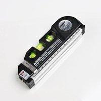 Wholesale Multipurpose Level Laser Horizon Vertical Measure Tape Aligner Bubbles Ruler FT Hot Worldwide