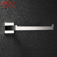 Wholesale Stainless steel bathroom towel holder square polished bath holders for towel bathroom accessories