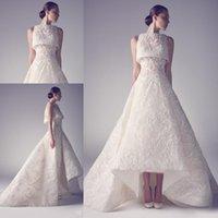 dubai - Ashi Studio Lace Muslin Arabic Dubai Dresses Evening Dresses A Line Appliques Luxury Arabic Formal Ball Gown
