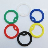 Wholesale 100pcs Round shape Silicone Rubber silencers for dog tags pendants around mm colors available