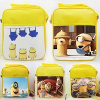 Wholesale 2015 Despicable Me minions Movie Character Figures Shoulder bag cartoon mobile phone Fashion canvas snack bag SKU A472