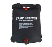solar heating - Big discount L Outdoor Camping Hiking Solar Energy Heated Camp Shower Pipe Bag Portable NEW EMS