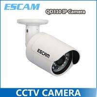 Wholesale 2014 New ESCAM QD310 IP Camera P P2P Cloud IP Camera LED M All Metal Email Alarm MM Lens A2