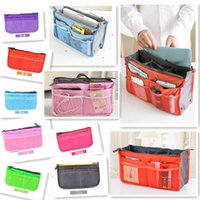 Wholesale Lady s Cosmetic Storage Pouch Purse Large Liner Tidy Travel multi functional Makeup bag pockets storage bags