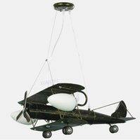 Wholesale Children s creative retro airplane lamp chandelier bedroom lamp child cartoon boy room lighting