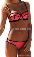 acrylic coaster - Hot style neoprene strap bikini with matching rims gather in the double coasters swimsuit