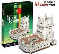 belem tower - Paper model Children s DIY toy Paper craft Birthday gift D educational Puzzle Model Card model Belem Tower