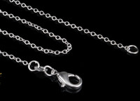 Wholesale 2015 hot sales MM inches choose Silver Chain Necklace High Quality Thin silver chain