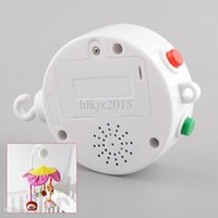 bells christmas songs - White Melodies Song Baby Kids Mobile Windup Crib Bell Electric Autorotation Music Box Cots Songs