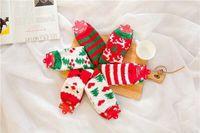 antler velvet - Free DHL Christmas Stocking Coral velvet floor Chenille sock Antler Santa stocking Christmas decoration party supplies