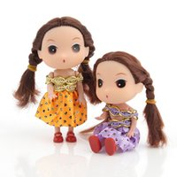 Wholesale 12 cm Korean Little girl confused doll Blonde Hair Fashion children s toys kawaii baby bambola ornaments