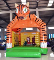 amusement equipment - AOQI amusement park equipment unique design tiger shape inflatable jumping bouncer for children made in China