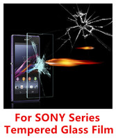 Wholesale For SONY Series mm H Hardness Real Tempered Glass Screen Protector Film for sony z1 mini z2 mini z3 mini z4 mini